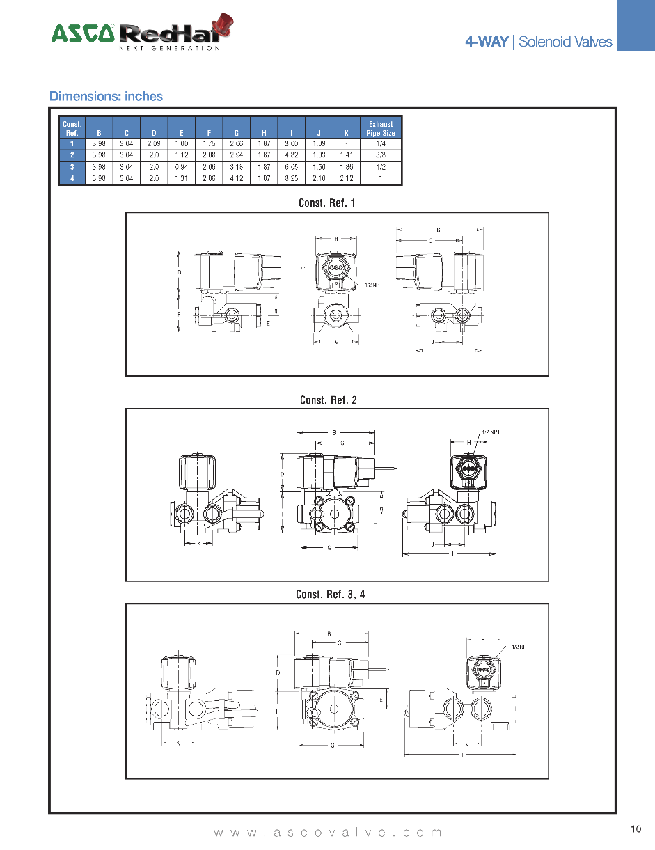 Asco Solenoid Valve 4 Way Valves Http Limit Switch Wiring Diagram Dimensional Drawings